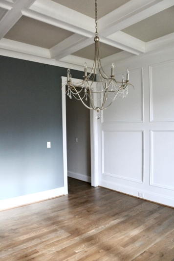 Navy and White Wainscoting Dining Room